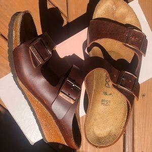 Birkenstock Papillio leather wedges